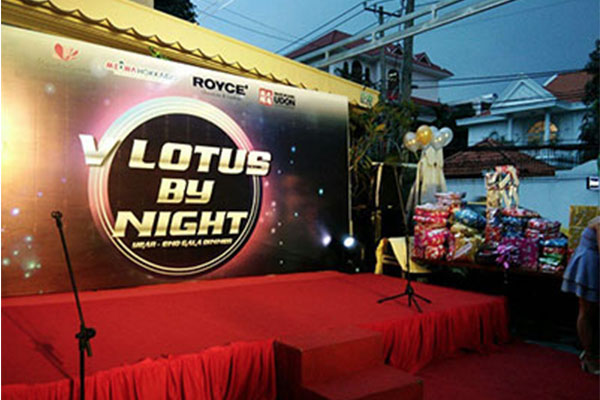 V Lotus by night